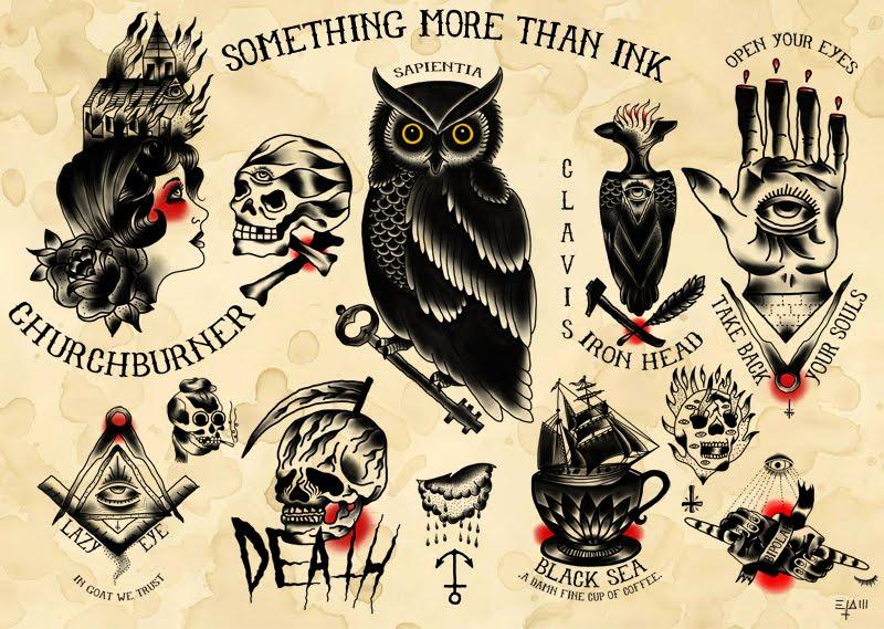 Эскизы тату в традиционном стиле
