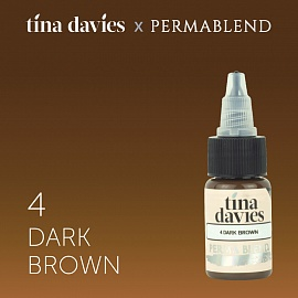 Пигмент Permablend Tina Davies 'I Love INK' 4 Dark Brown, 15 мл.
