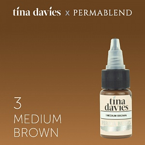 Пигмент Permablend Tina Davies 'I Love INK' 3 Medium Brown, 15 мл.